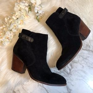 Sam Edelman MARIELLE Ankle Boot Black Suede, 8.5